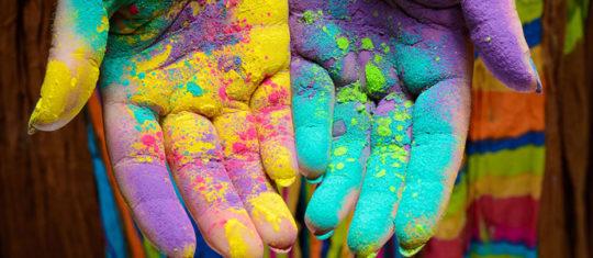 poudre de couleur